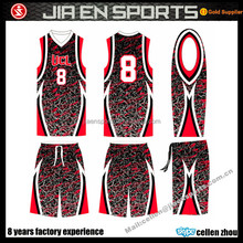 Basketball jersey and shorts design cheap reversible basketball uniforms