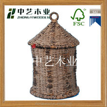 2014antique wicker small wooden bird house