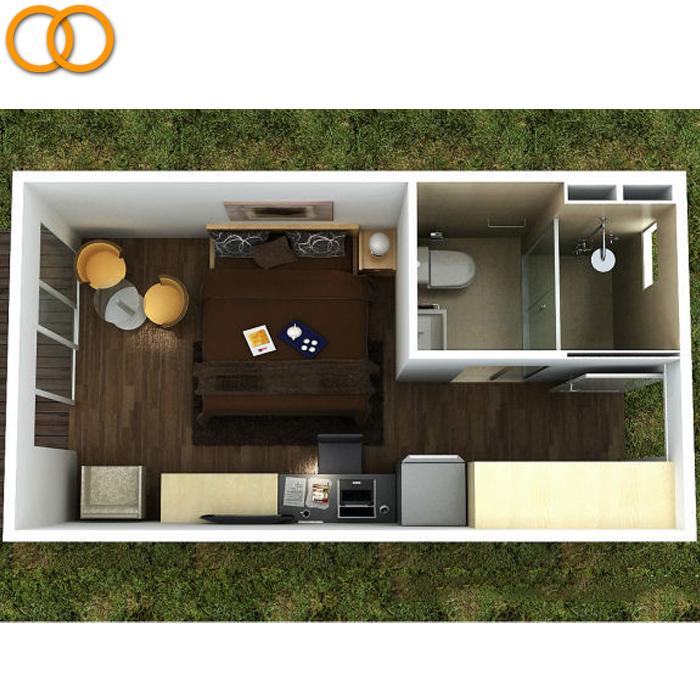 Prefabricado contenedor casa con cuarto de baño y cocina-Containers ...