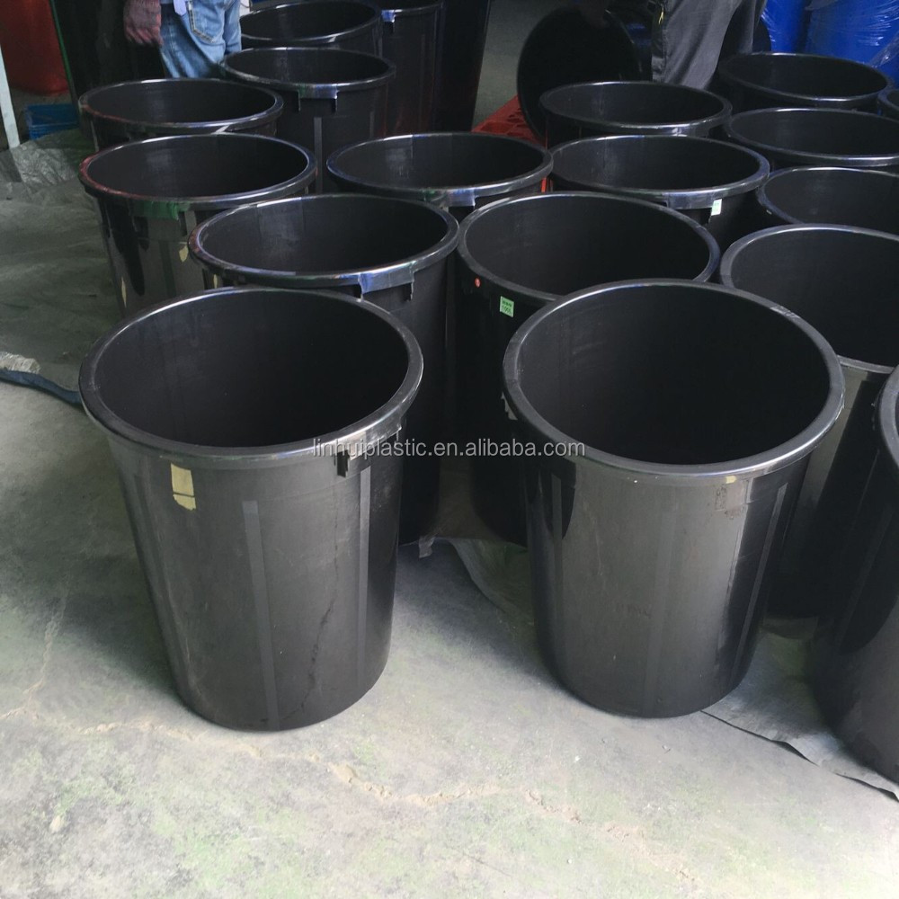 100L Food Grade 27 Gallon black plastic buckets with handle and lids