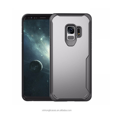 For Samsung S9 Case , Shockproof TPU Edge Clear PC Back Case for S9 Cover