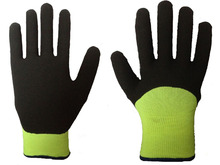 SLJsafety nitrile foam coated working gloves looped pile liner boxing glove