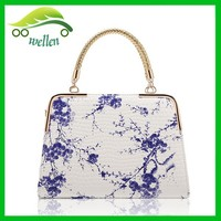 New design flower painting bags Chinese porcelain ladies handbags