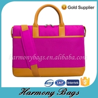 Pink polyester 14'' Best customized computer bag for women