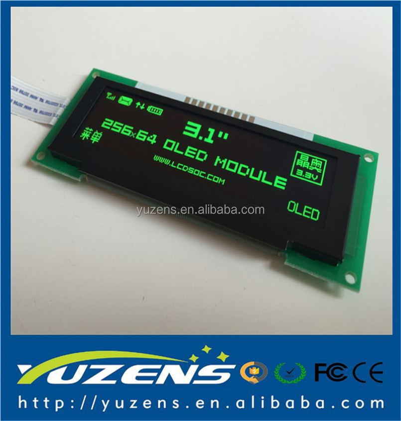 M31S1322_01_B 3.1 inch 10PIN Blue OLED Module SSD1322 Drive IC 256*64 SPI Interface 3.3V