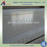 White plastic roadmat, ground protection board, temporary roadways systems