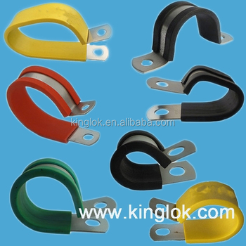 Rubber Sleeve Steel Cable Clamp Tubing Clamp rubber lined tubing hose clamp