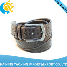 New arrival braided 3 inch leather belt oem available manufacturer