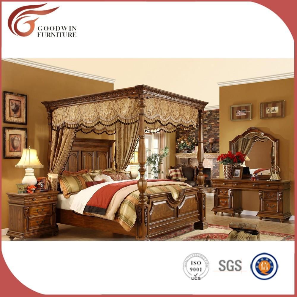Klassische massivholz schlafzimmer möbel A05-Schlafzimmer-Set-Produkt ...