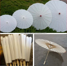 white paper umbrella 42cm 24 rib chinese cheap personalized decoration printed craft colored oiled rice paper bamboo umbrellas