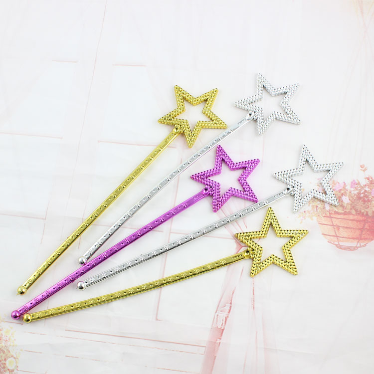 party favor star shape bling fairy stick plating princess wand