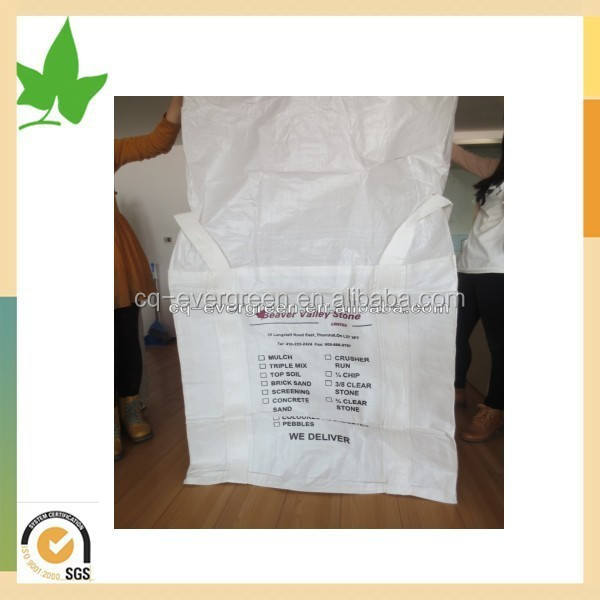 High quality bulk bag pp big bag for packing sands rice and wood pellets