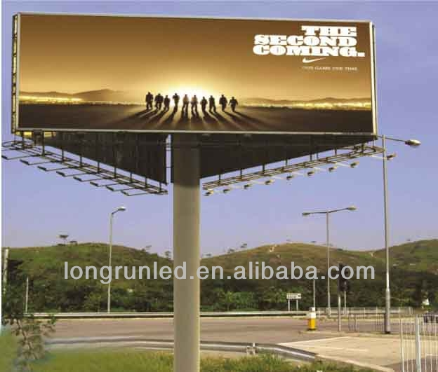 Waterproof HD DIP Advertising Led Sign Billboard, Full Color P20 Outdoor Highway Advertising Led Display