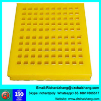 linear vibrating urethane sieve self-cleaning screens rubber screening panel