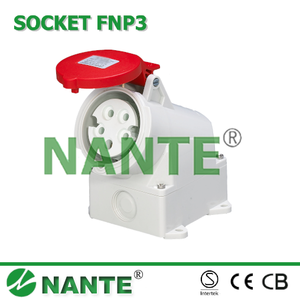 Waterproof Industrial Plugs and Sockets 5P, 16A, 32A, IP44 CEE/IEC Standard FNP3-115