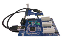 PCI-E 1X Expansion Kit PCI Express 1x to 3 Port PCI Express Switch Multiplier HUB Riser Card + USB Cable