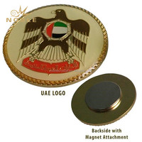 Wholesale Custom Round Gold UAE National Day Arabic Souvenir Gifts Metal Badge