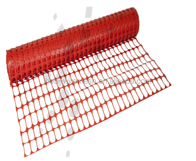 Red Plastic Mesh Safety Fence/Fencing,Roll Plastic Fence