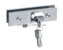 304ss lock patch door control central lock clamp with computer key brass patch fittings sliding door hardware glass door lock