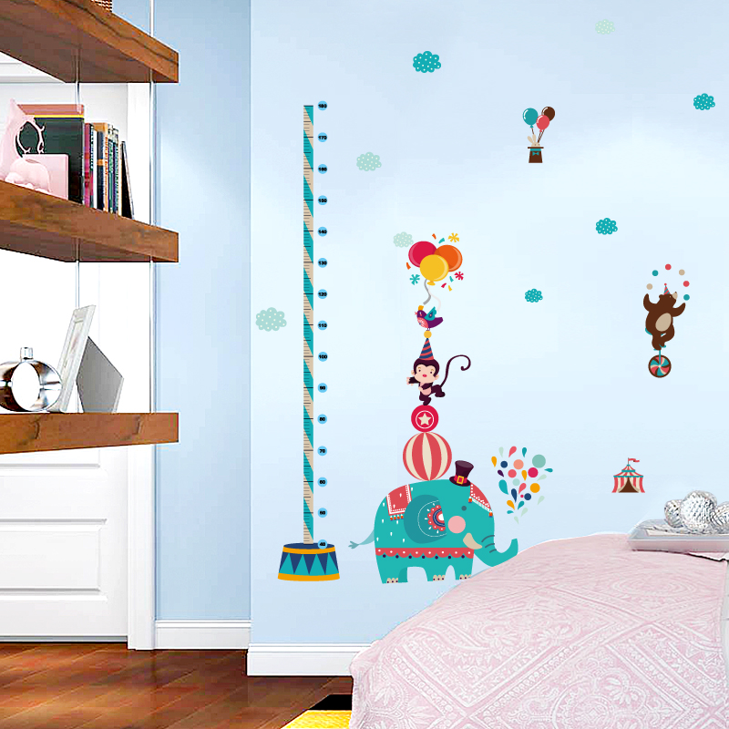 Cartoons Children Growth ,Height Measurement wall stickers Sticker Printing