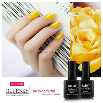 bluesky Soak Off UV LED Gel Nail Polish ,Bicycle Yellow Lemon Light Mustard 80576