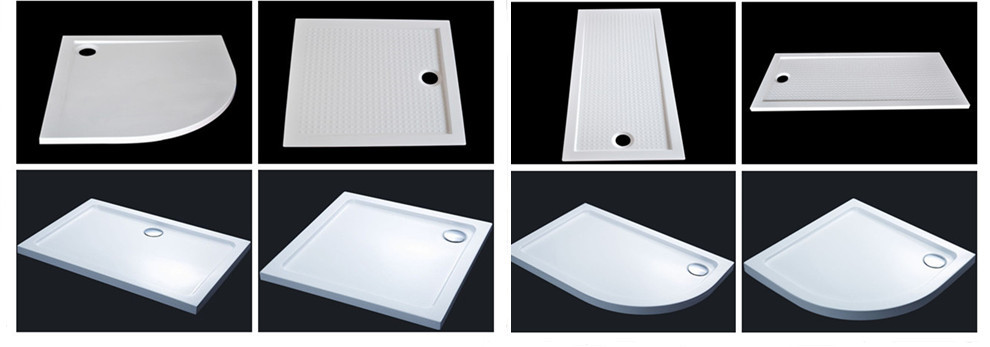 DOMO Pentagon acrylic shower tray for shower enclosure