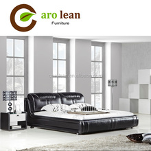 C359 #black leather diamond bed in pakistan
