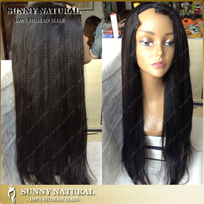 yaki wigs for black women human hair u part wig coarse yaki straight