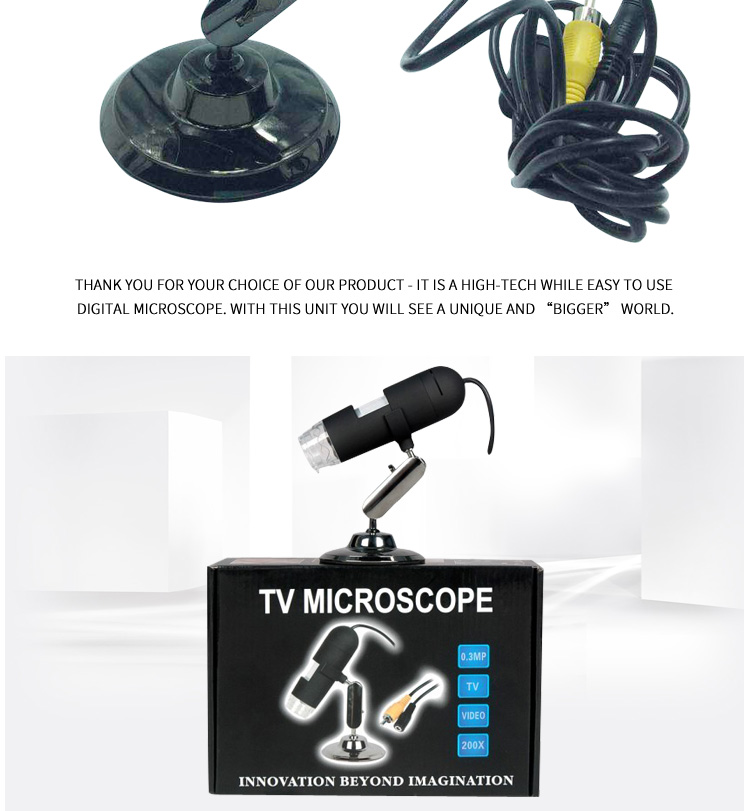 Factory direct high-definition digital magnifier tv electronic microscope AV interface directly connected to the TV monitor