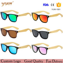 Wholesale Bamboo Arms Classic Sunglasses Polarized Lens Metal Hinges Glasses Professional Amazon Supplier