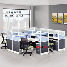 Modern office furniture wooden table aluminum alloy partition