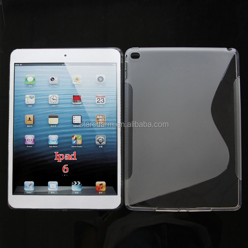 Shenzhen Soft Gel Phone Case Cover S Line TPU Case for ipad air 2
