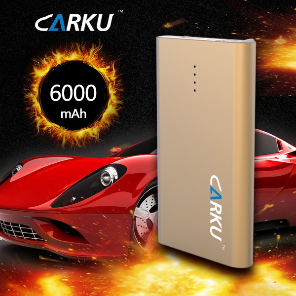 CARKU 6000mAh emergency car jump starter booster Portable Emergency Battery car Charger for Phone SOS light