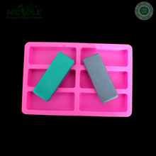 Nicole Silicone 6 Cavities Rectangle Shape Soap Molds DIY Chocolate Molds With 6 <strong>Holes</strong>