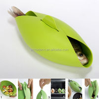 Unique Silicone Folding Bowl Outdoor Trip Picnic Fish Steamer Food Tool