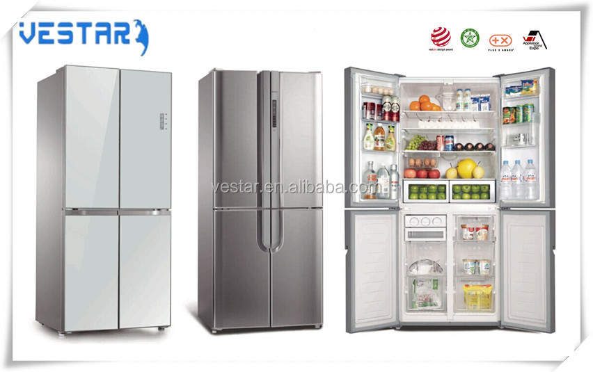 side by side 4 doors 468L big refrigerator with touch screen
