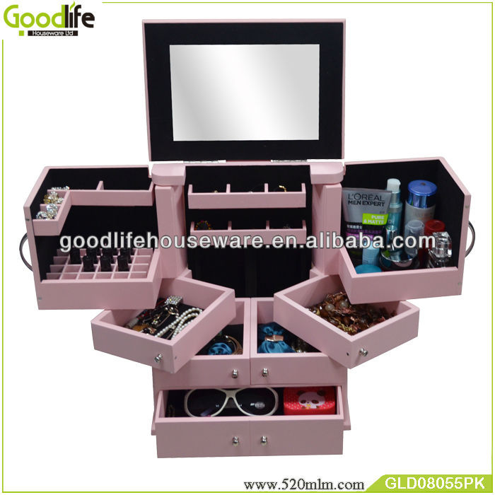Goodlife GLD08055 popular wooden vanity box jewelry box wooden crate