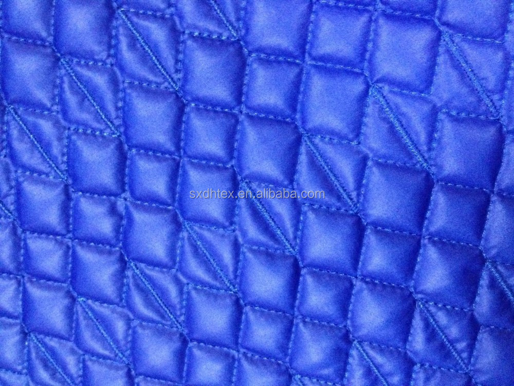 Padding embroidery quilting fabric for winter jacket/garment