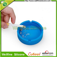 Silicone Universal disposable ashtrays with Custom logo For wine glass bottle bottom cover
