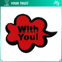 Black Red Cloud With You Letter Rhodium Safety Clothing Custom Metal Badge Pin