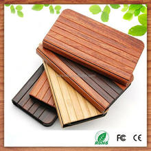 2015 hot selling for iphone4/4s case wood, for iphone5/5s/5c flip case book style
