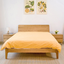 Sales Promotion Scandinavian Style Oak Modern Queen Bed