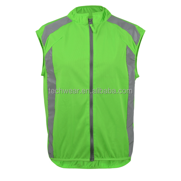 Reflective fashion cycling running sports clothing vest wear