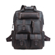 Tiding Hot Sale Crazy Horse Leather Retro Backpack 16 inch Laptop Backpack Men Hiking Leather Rucksack For Outdoor