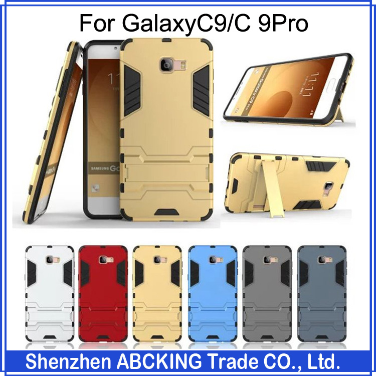 High Quality Iron Man Series PC + Silicone Anti Shock Proof Shield Case For Samsung GalaxyC9 / Galaxy C 9Pro