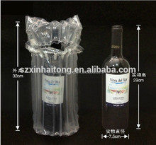 2017 China suppliers plastic fill wine bladder air column packaging bag for wine bottle