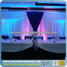 RK pipe and drape for wedding, show, events/side drape wedding dress