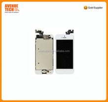 high quality wholesale OEM Full Assembly Black Replacement LCD Screen Digitizer Camera For iPhone 5