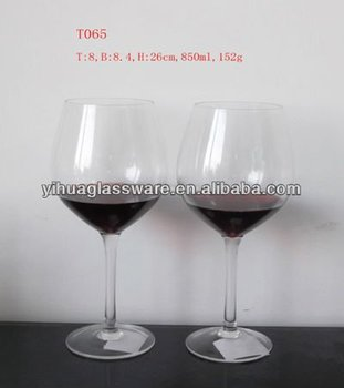850ml thick stem wine glass buy thick stem wine glass large wine glass stemware product on - Wine glasses with thick stems ...
