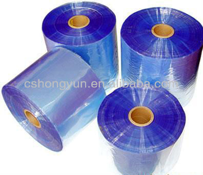 2013new product Manufacturer 25micron~65micron thickness reclcled pvc shrink film for packing of gift box, cards